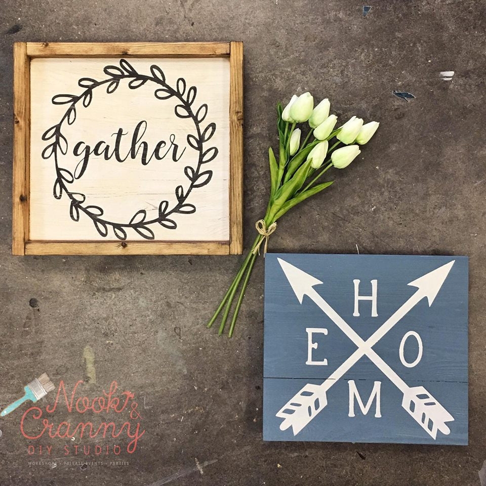 Nook & Cranny UNFINISHED - Mini Shiplap Sign Kit