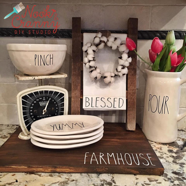June 24th 5pm NEW Farmhouse Kitchen Decor {three projects to pick from}