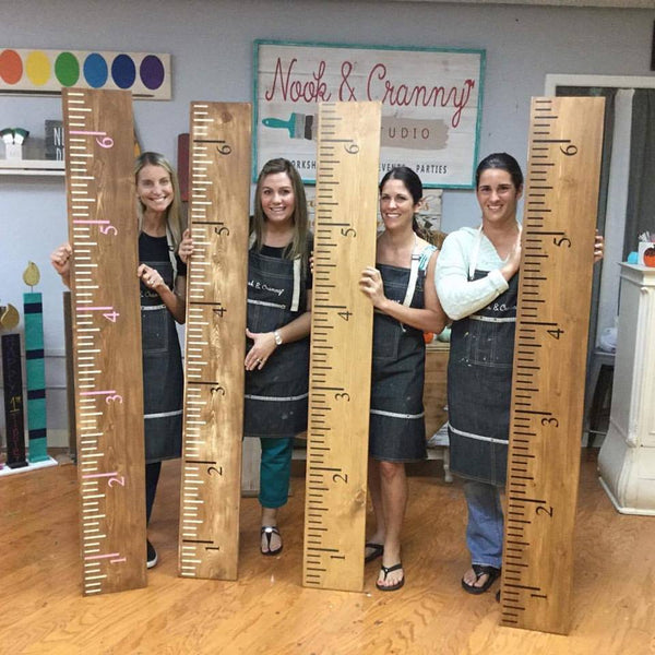 "March 23rd 6:30pm *NEW* OVERSIZED ""Tools""....Ruler {growth chart!} or Watercolor Palette"