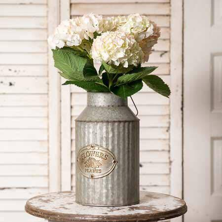 CLEARANCE METAL FLOWER JUG {FLOWERS NOT INCLUDED}