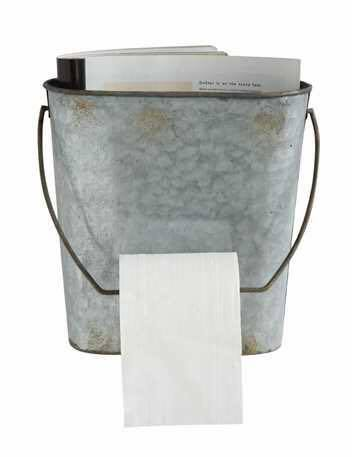 OCTOBER DECOR TIN TOILET PAPER HOLDER