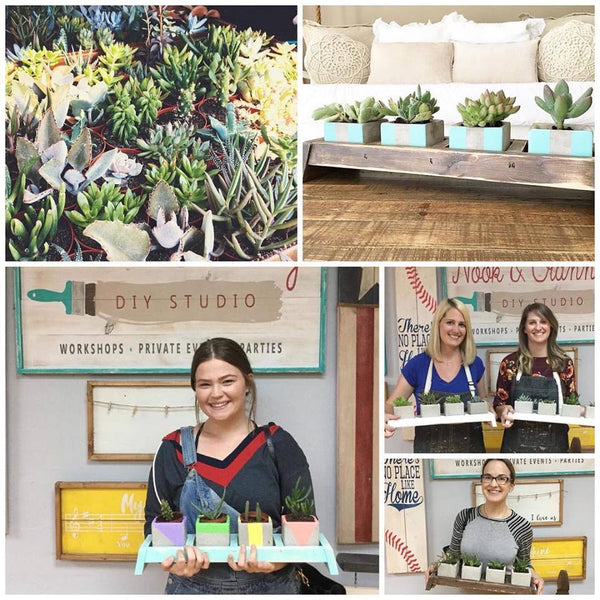 February 23rd 2pm **NEW** Succulent Holder Workshop - TEENS only!!