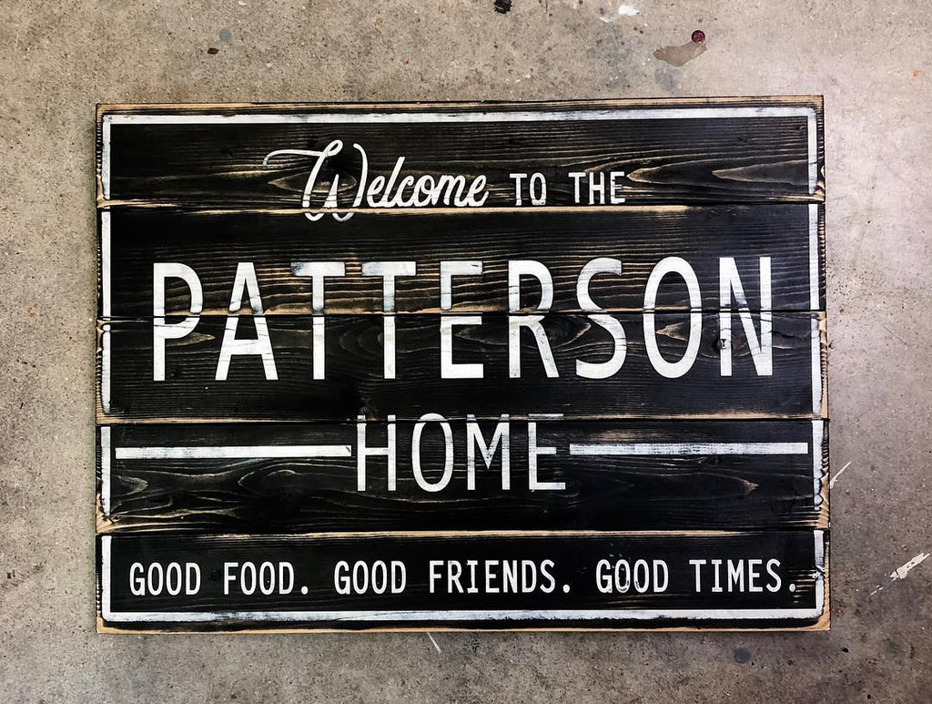 March 8th 6:30pm NEW Personalized Family Welcome Sign
