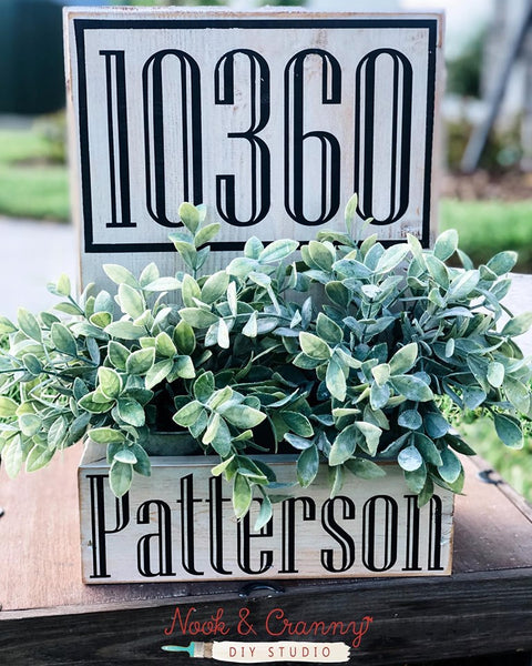 March 14th 6:30pm NEW Personalized Address Planter