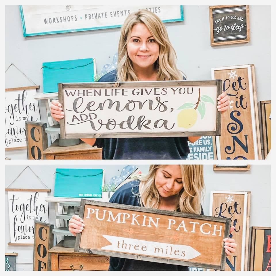 September 20th 6:30pm REVERSIBLE Skinny Signs {you make TWO...which makes FOUR signs!}
