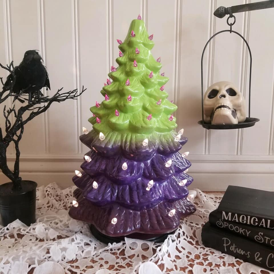 September 28th 6:30pm NEW Ceramic Holiday Trees {three size options!}