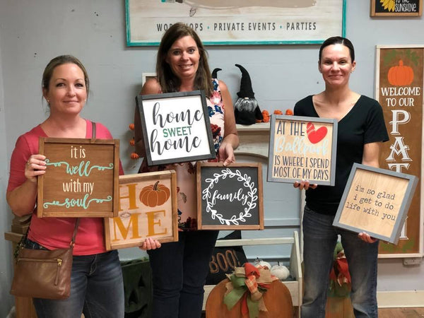 February 22nd 6:30pm MINI Signs {you make TWO!}