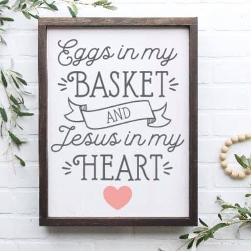Eggs In My Basket Framed Sign Kit {unfinished}