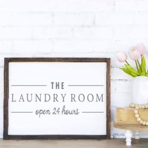 The Laundry Room Framed Sign Kit {unfinished}