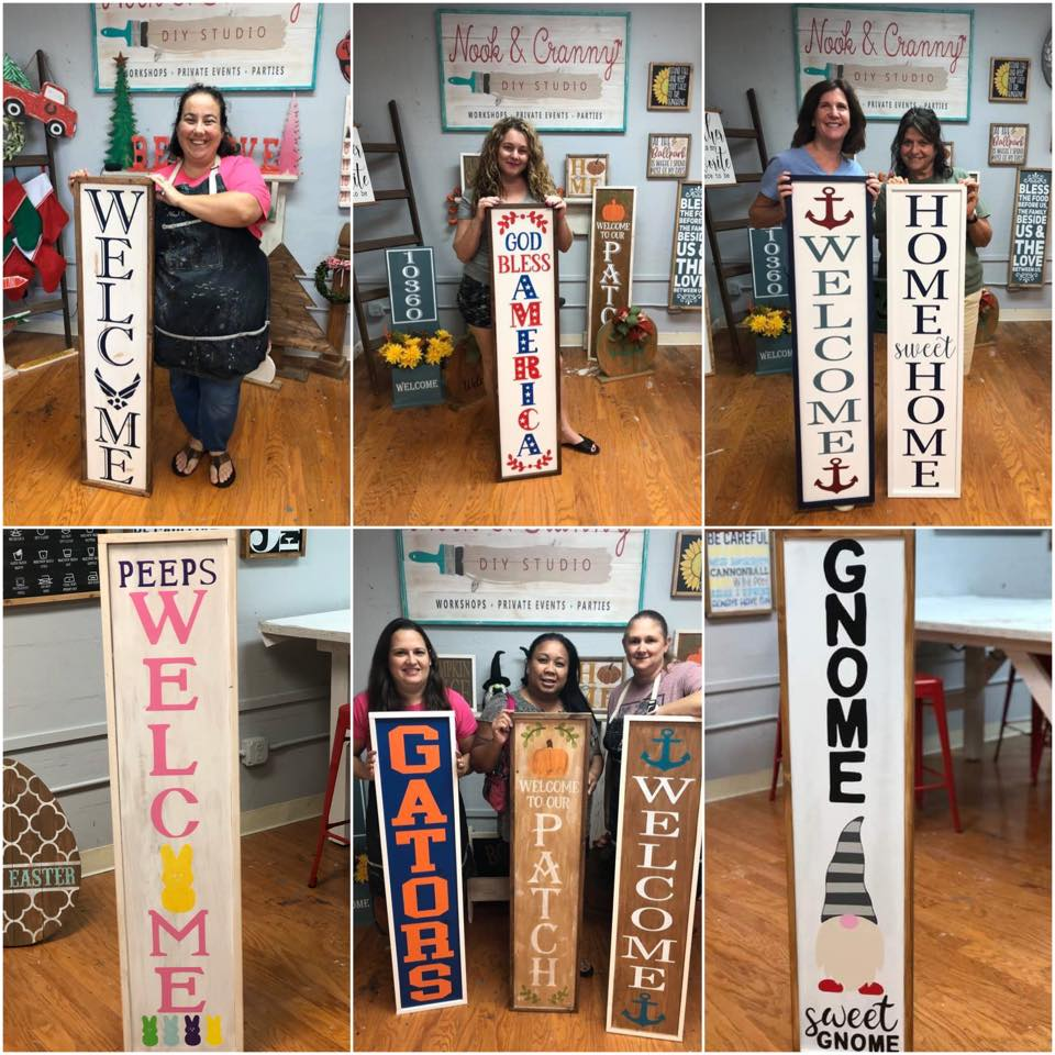 "February 22nd 6:30pm 48"" Plank Signs {porch leaners}"