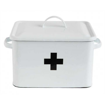 CLEARANCE ENAMEL FIRST AID BOX