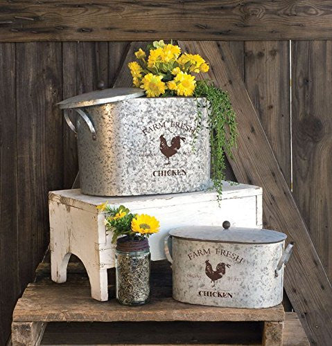 CLEARANCE Farm Fresh Buckets with lid