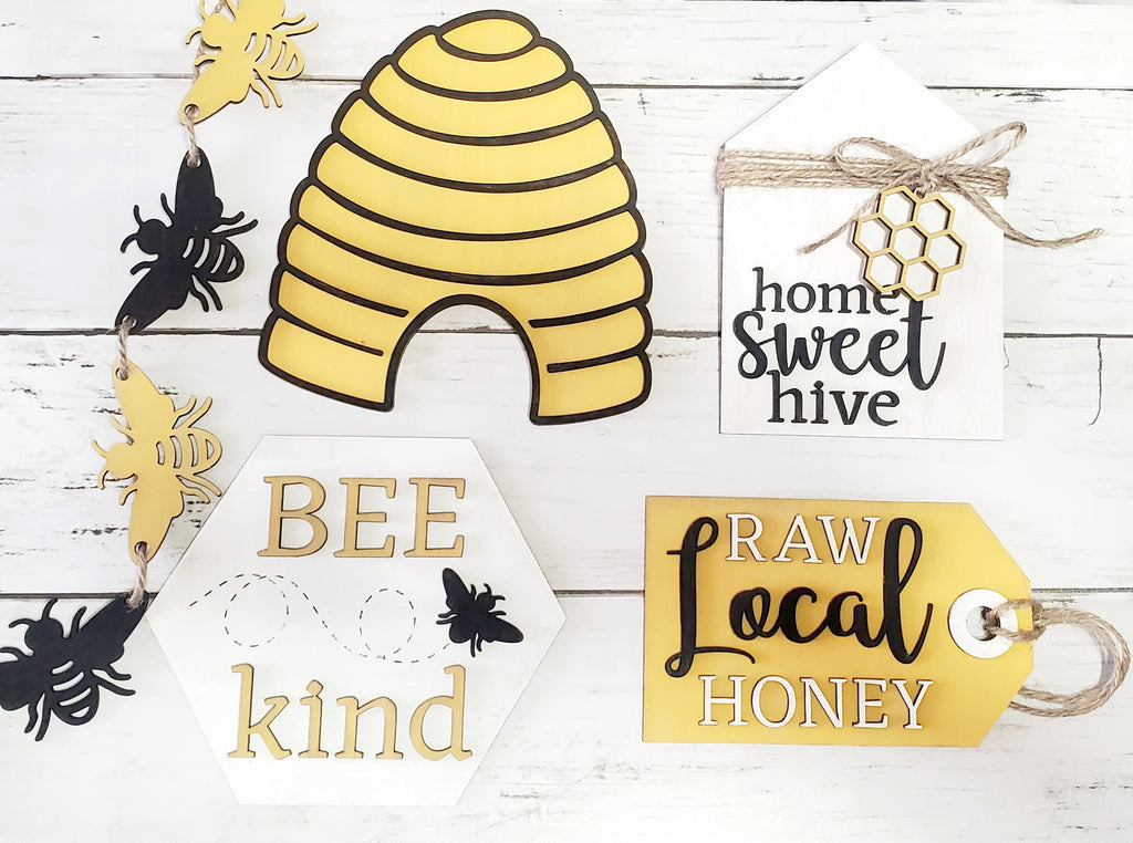 Honey Bee Tiered Tray |CURATED| Box