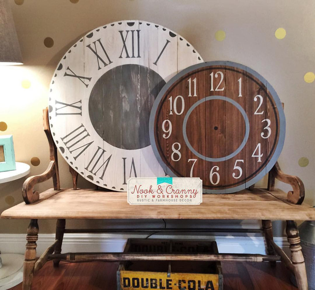 April 19th 6:30pm Faux Clock Workshop ~ TWO sizes to pick from