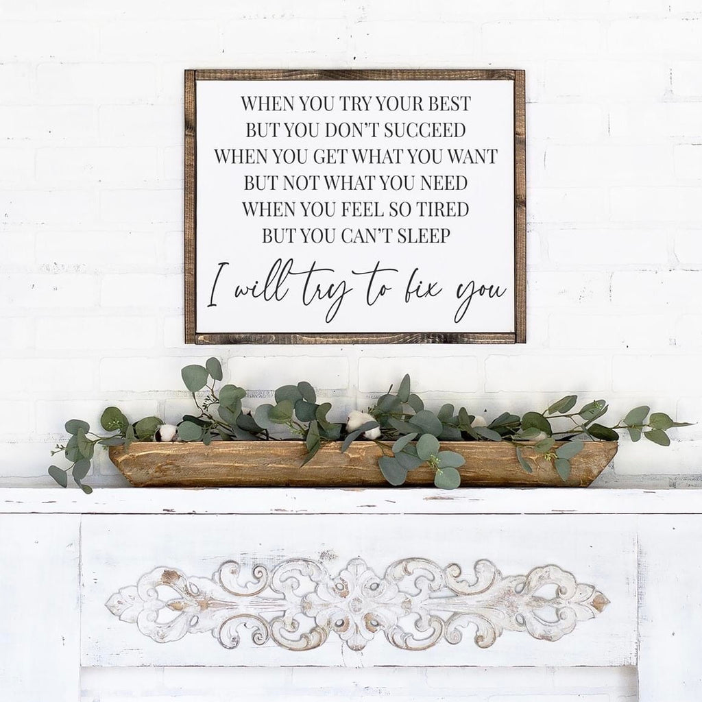 """When You Try Your Best"" Framed Sign Kit {unfinished}"