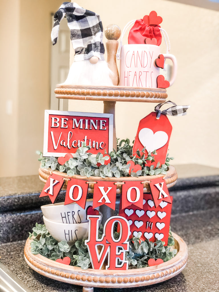 Valentine's Tiered Tray |CURATED| Box
