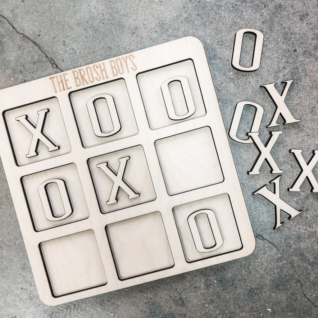 Personalized Tic Tac Toe Kit (unfinished)
