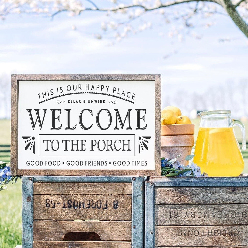 """Welcome to"" Framed Sign Kit {unfinished}"