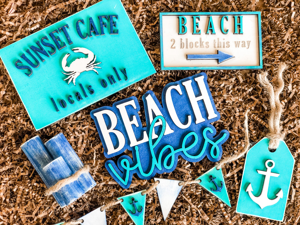 Beach Theme Tiered Tray |CURATED| Box