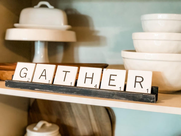 MINI Scrabble Tiles with Racks homeMAKER Kit