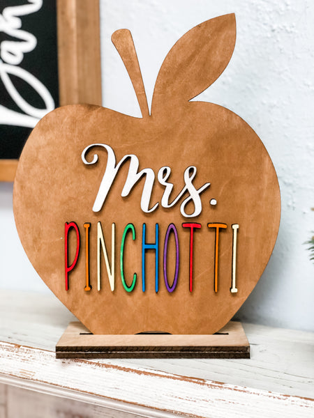 Unfinished Personalized Teacher Apple