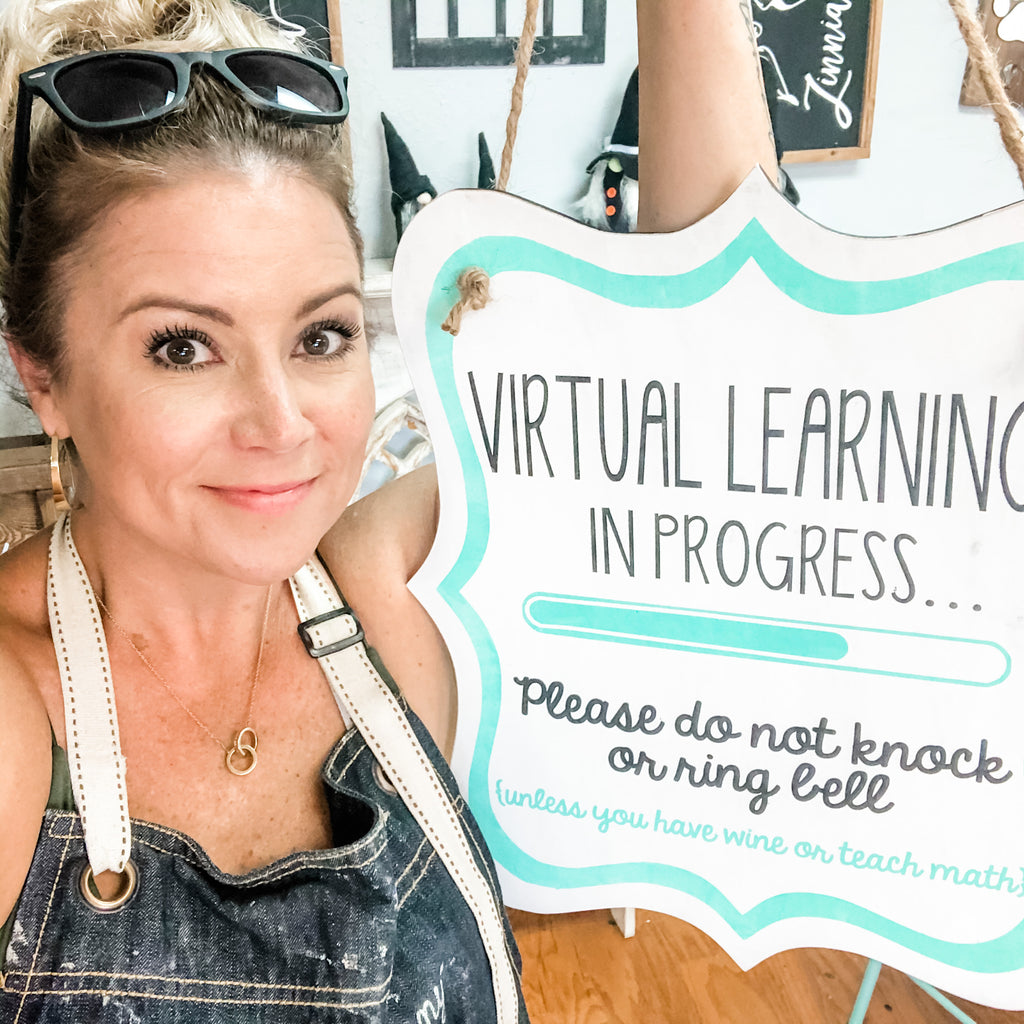 "Unfinished ""Virtual Learning"" Door Hanger"