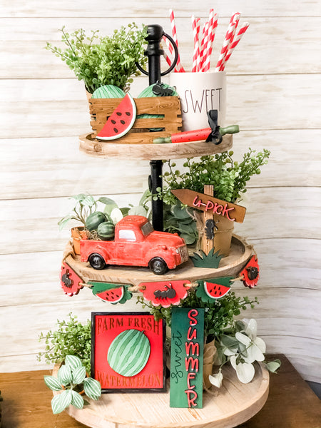 Watermelon Theme Tiered Tray |CURATED| Box