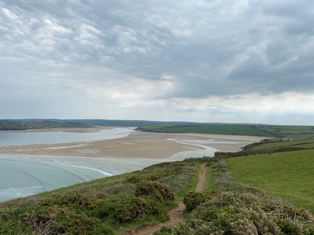 A view over the Camel Estuary from Hawkers Cove, Cornwall