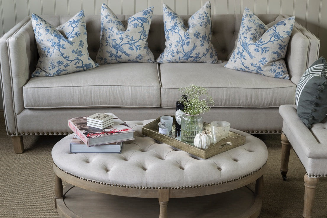 Picture of: How To Style An Ottoman Coffee Table