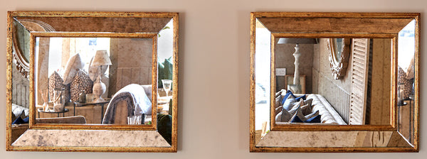 Cleverly positioned mirrors give the illusion of space