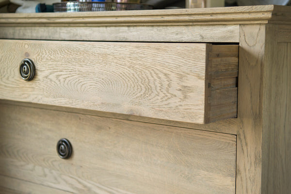 St Claude weathered oak chest