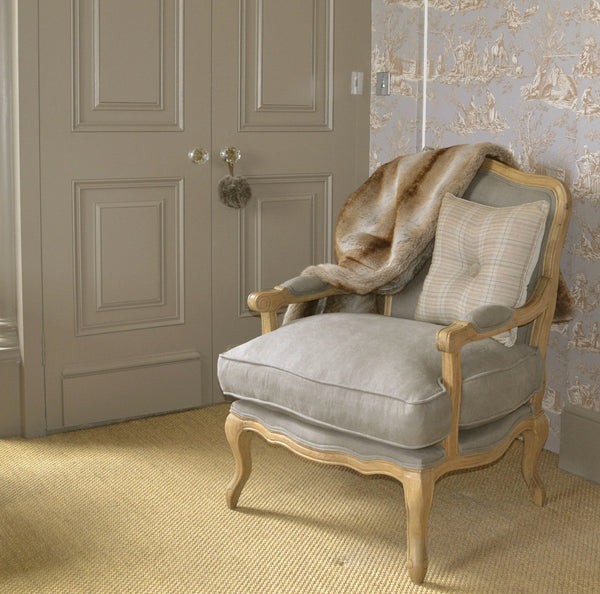 French style Louis chair in dove grey