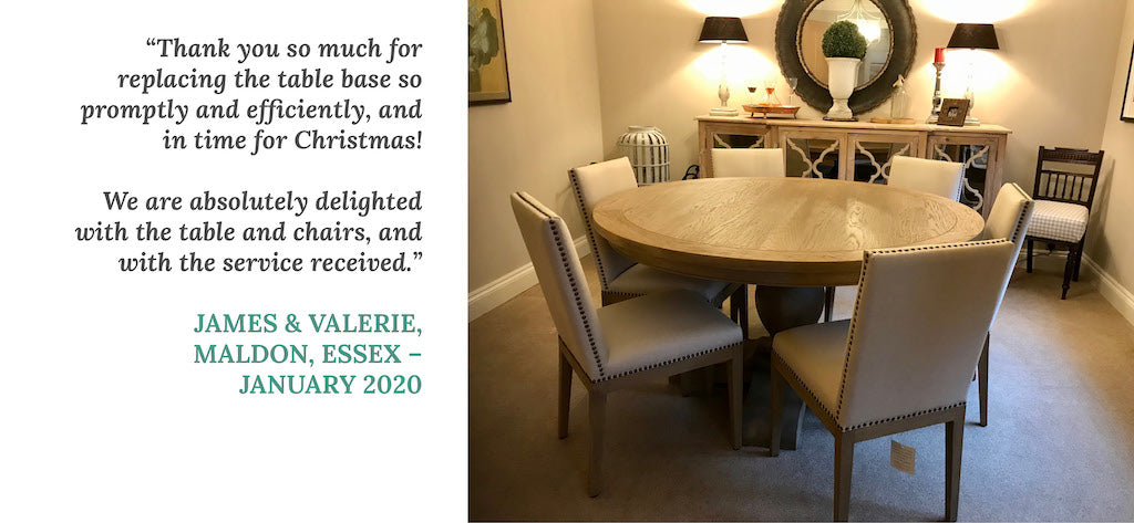 Customer review - James & Valerie
