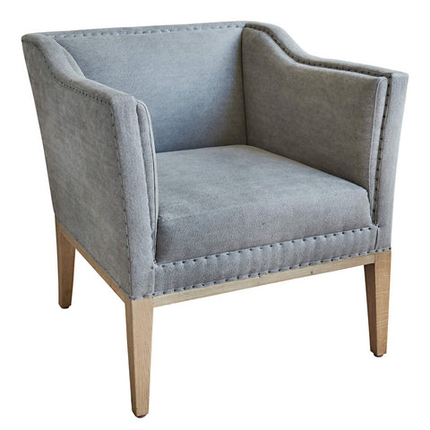 Luxury Armchair Arthur in Dove Grey