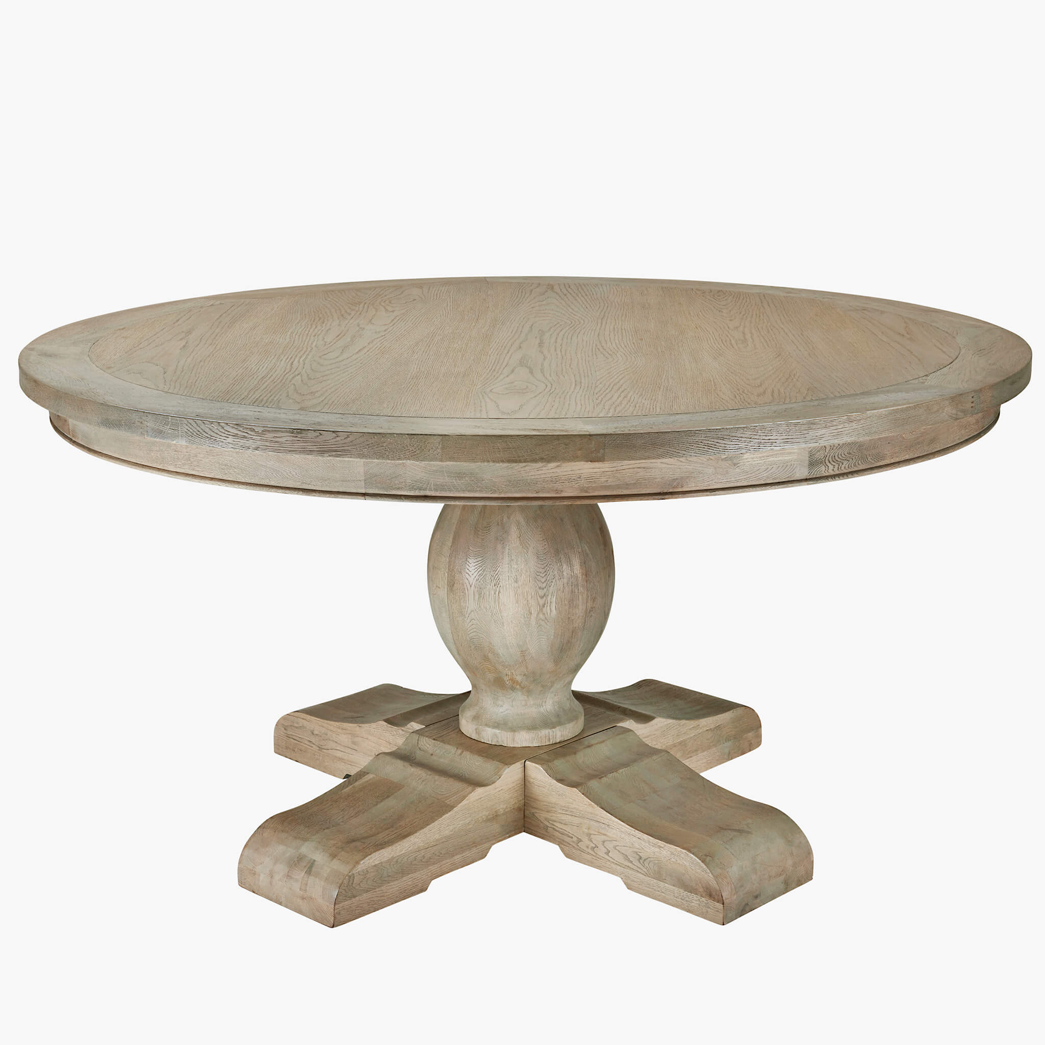 Picture of: Large Round Weathered Oak Dining Table La Residence Interiors