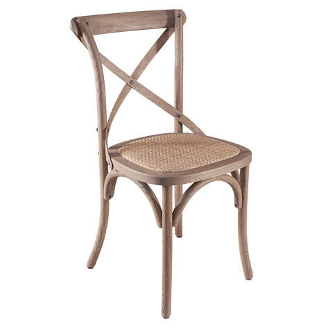 Flore Weathered Oak Bistro Chair