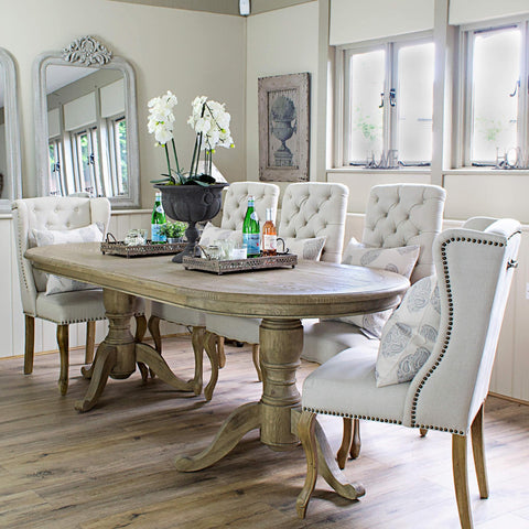 Belmont Oval Dining Table La Residence Interiors - Long oval dining table
