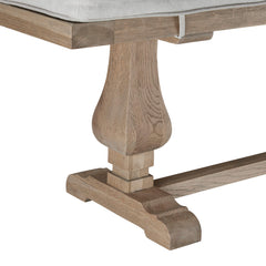 The Belvedere Weathered Oak Dining Bench