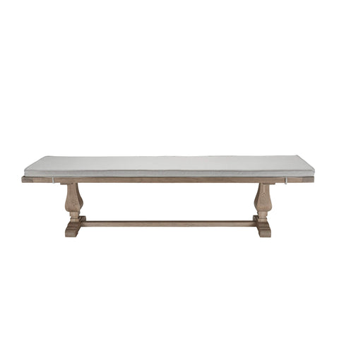 Belvedere Weathered Oak Dining Bench