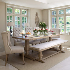 Belvedere Weathered Oak Dining Table