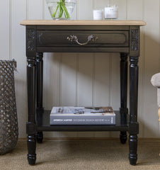 Blenheim Rectangular Side Table - Black