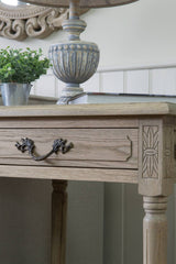 Blenheim Rectangular Side Table - Weathered Oak