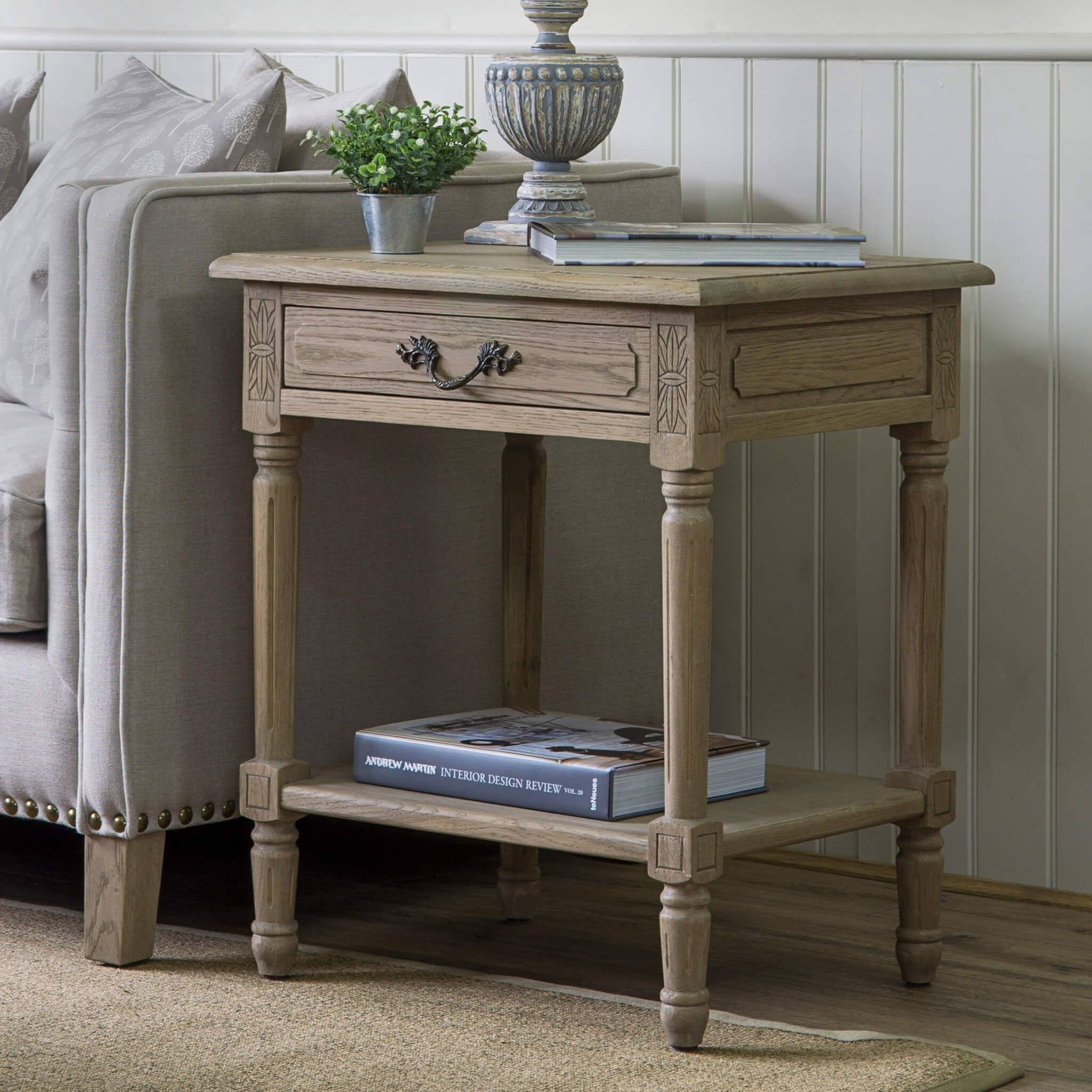 Picture of: Weathered Oak Side Table Blenheim Weathered Oak Rectangular Table