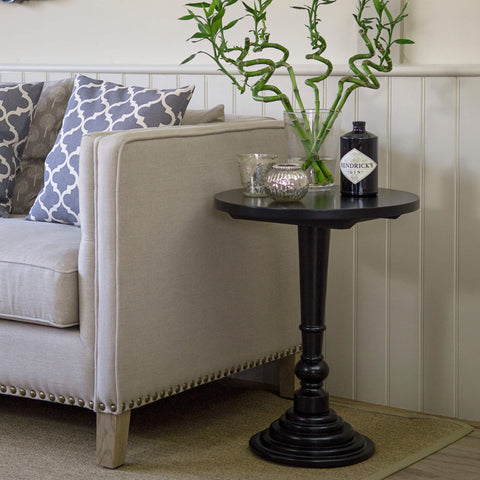 Brompton Round Side Table - Black