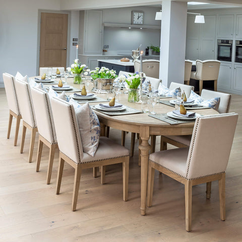 Brunswick Extending Weathered Oak Dining Table