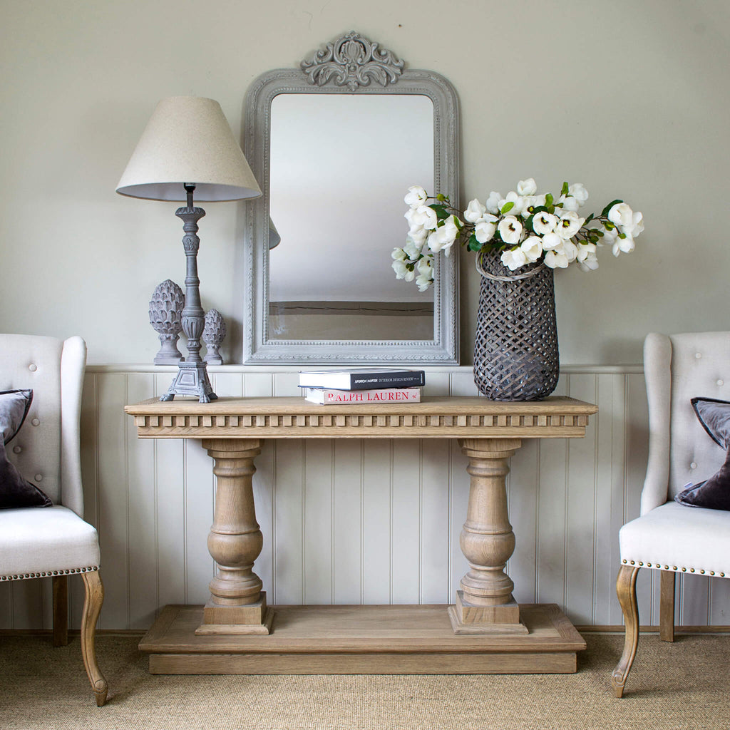 Claremont Console Table Weathered Oak La Residence Interiors