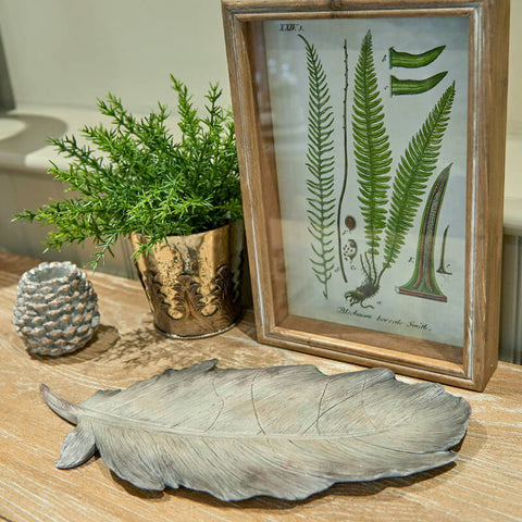 Decorative Feather Platter