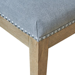 Devonshire dining chair in dove grey upholstery detail