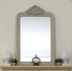Grey rustic large mirror