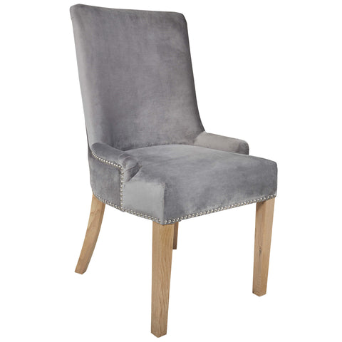 Grey Velvet Hamilton Dining Chair